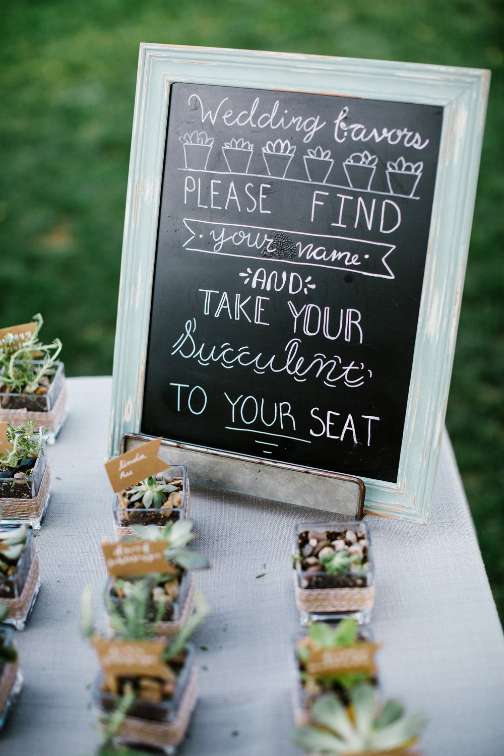 www.santabarbarawedding.com | Elings Park | Hannah Rose Gray | Wedding Favor | Succulent