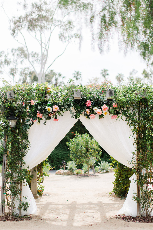 www.santabarbarawedding.com | Santa Barbara Historical Museum | Events by Rachel Korrey | Anna Delores | Ceremony Arch