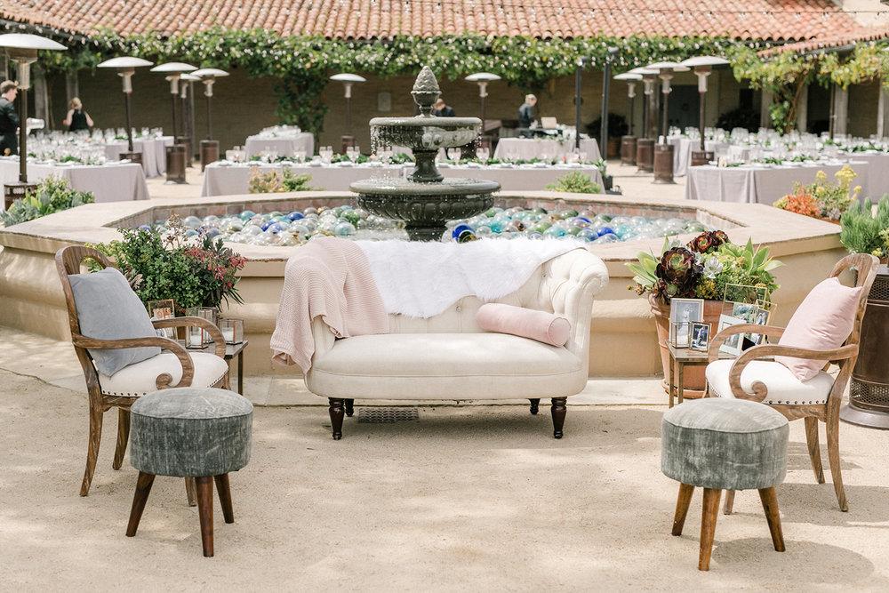 www.santabarbarawedding.com | Santa Barbara Historical Museum | Events by Rachel Korrey | Anna Delores | Reception Seating