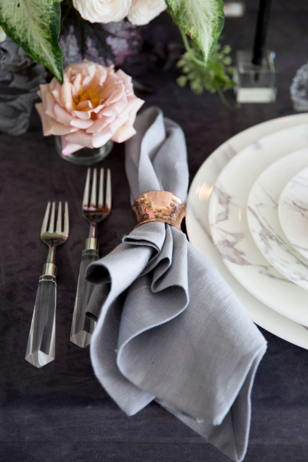 www.santabarbarawedding.com | Kristen Beinke | Jill & Co | Place Setting