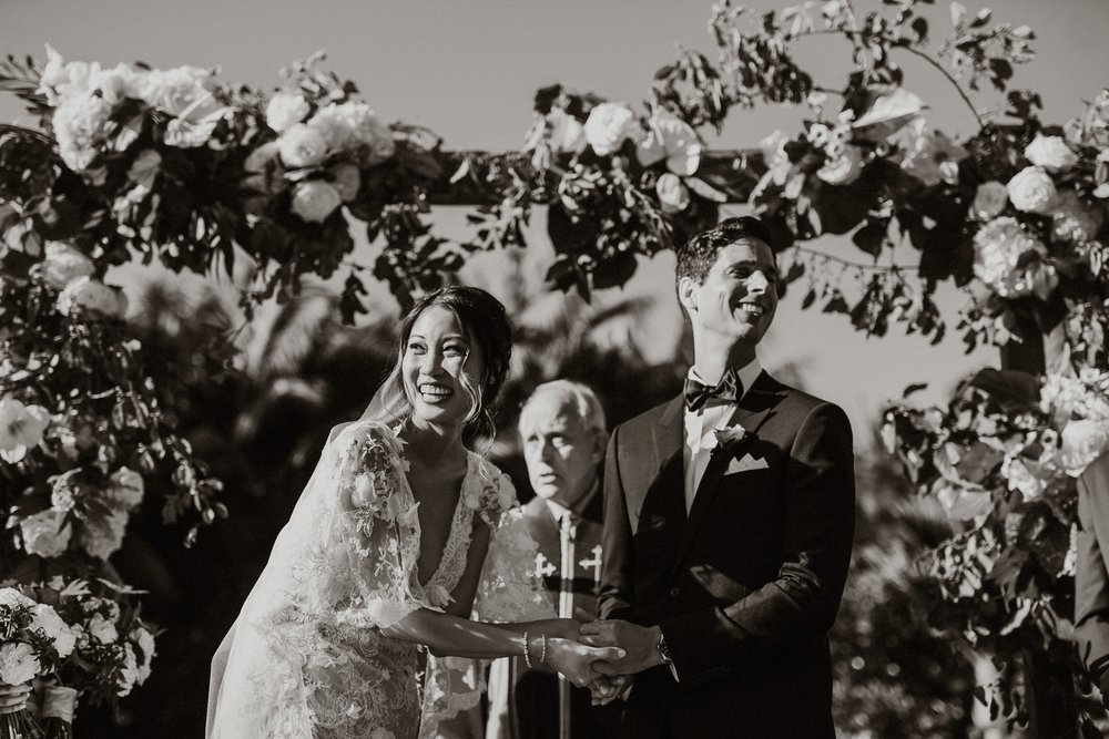 www.santabarbarawedding.com | Event of the Season | Gina and Ryan Photo | Four Seasons | Ceremony | Bride and Groom