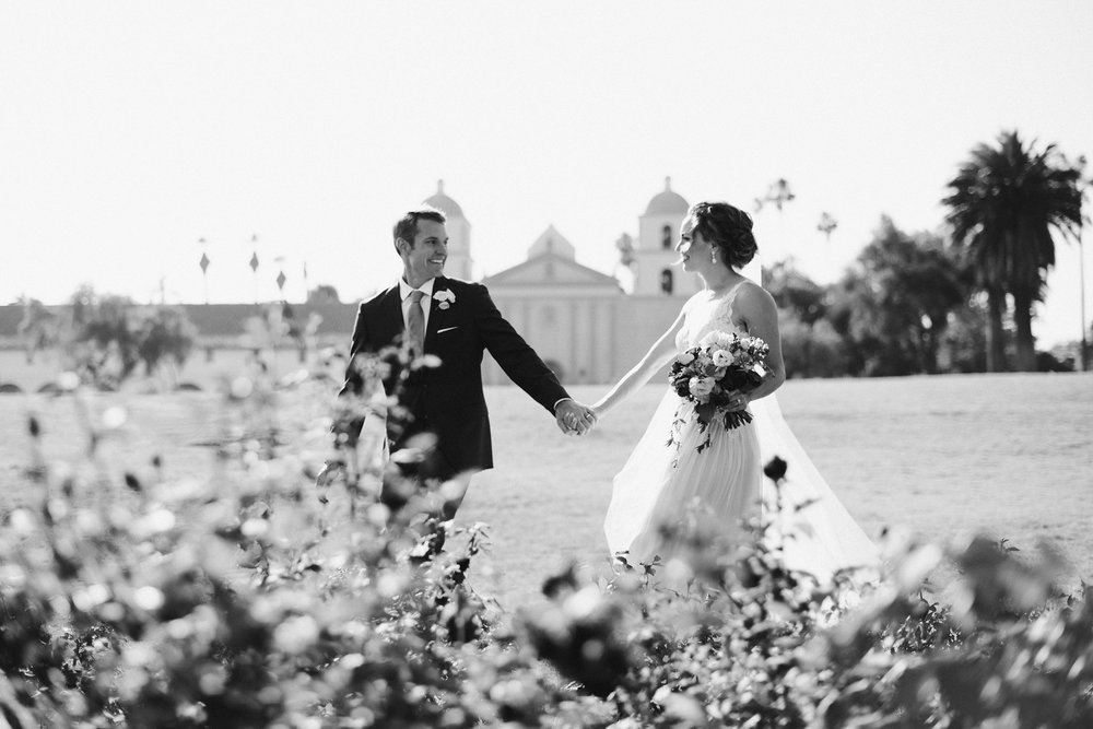 www.santabarbarawedding.com | Grace Kathryn | Santa Barbara Mission | Bride and Groom