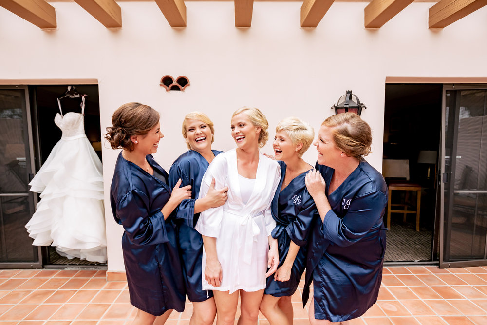 www.santabarbarawedding.com | Rewind Photography | Hilton Santa Barbara Beachfront Resort | Events by M and M | Bridesmaids getting ready