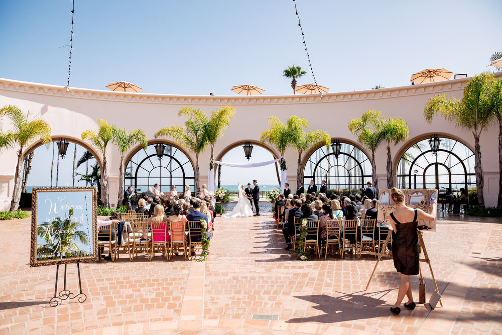 www.santabarbarawedding.com | Rewind Photography | Hilton Santa Barbara Beachfront Resort | Events by M and M | Ceremony