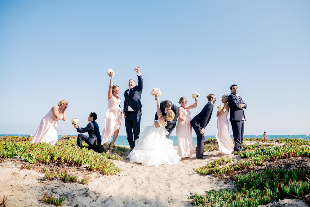 www.santabarbarawedding.com | Rewind Photography | Hilton Santa Barbara Beachfront Resort | Events by M and M | Bridal Party