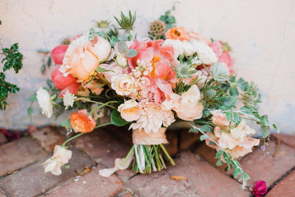 www.santabarbarawedding.com | Grace Kathryn | Santa Barbara Historical Museum | Bridal Bouquet