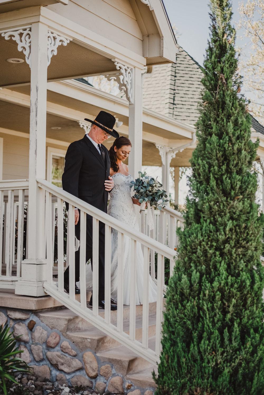 www.santabarbarawedding.com   Grace Maralyn Estate   Diana Lake Photo   Bride and Father walking down aisle