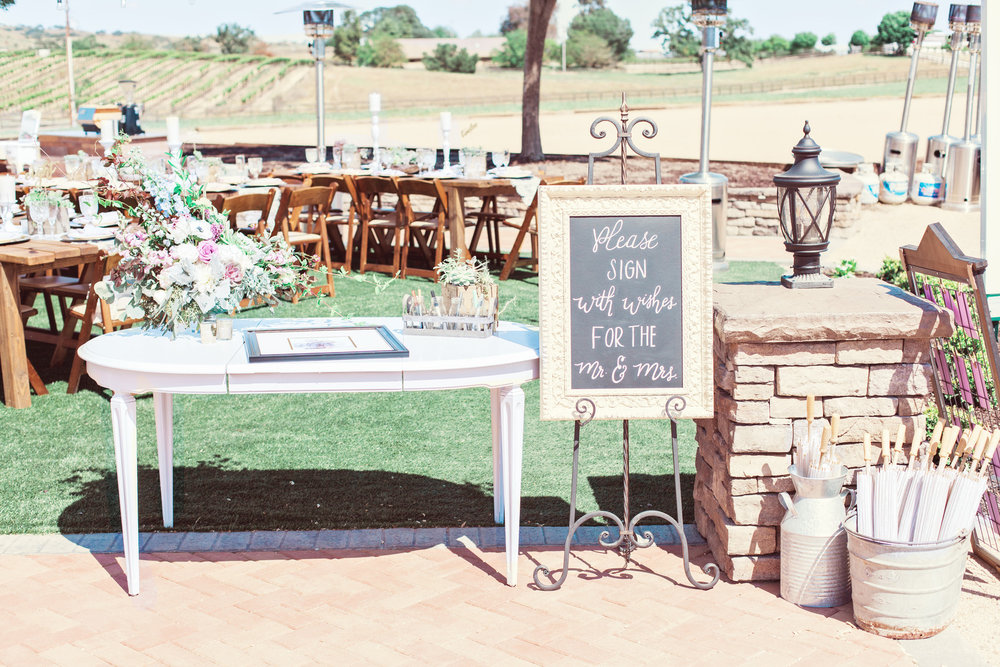 www.santabarbarawedding.com | Kay Mitchell | The Carriage House | Effortless Events | Guest Book Table