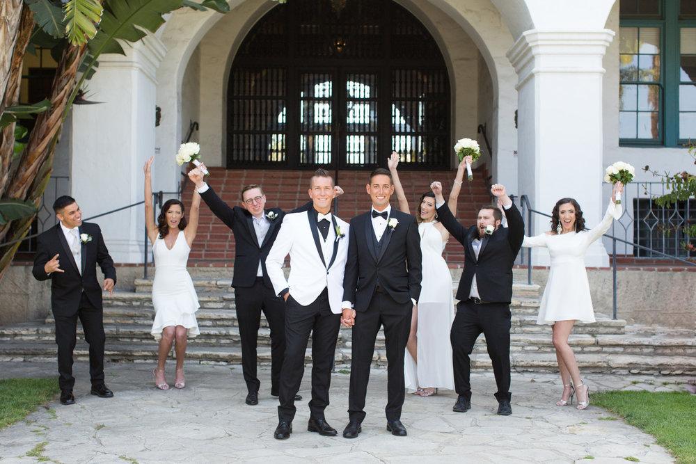 www.santabarbarawedding.com | Santa Barbara Courthouse | Crown Plaza Ventura Beach | Tiffany Michele | Wedding Party