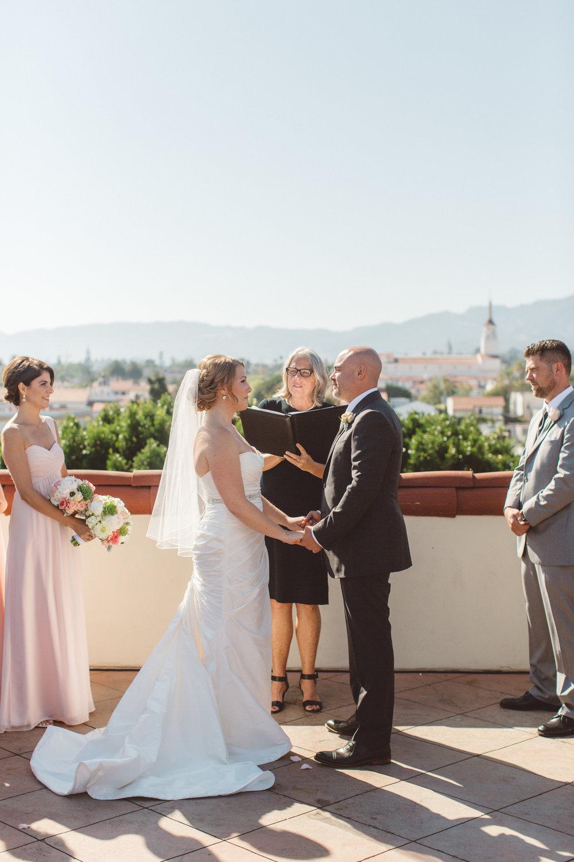 www.santabarbarawedding.com | Canary Hotel | Anna Delores Photography | Santa Barbara Wedding Coordinator | Vows | Ceremony