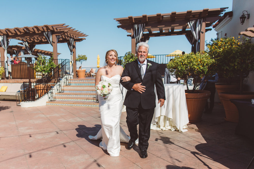 www.santabarbarawedding.com | Canary Hotel | Anna Delores Photography | Santa Barbara Wedding Coordinator | Bride and Father