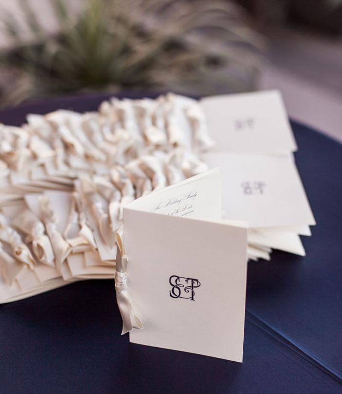 www.santabarbarawedding.com | Soigne Productions | Presqu'ile Winery | Wade Carr Photo | Wedding Program