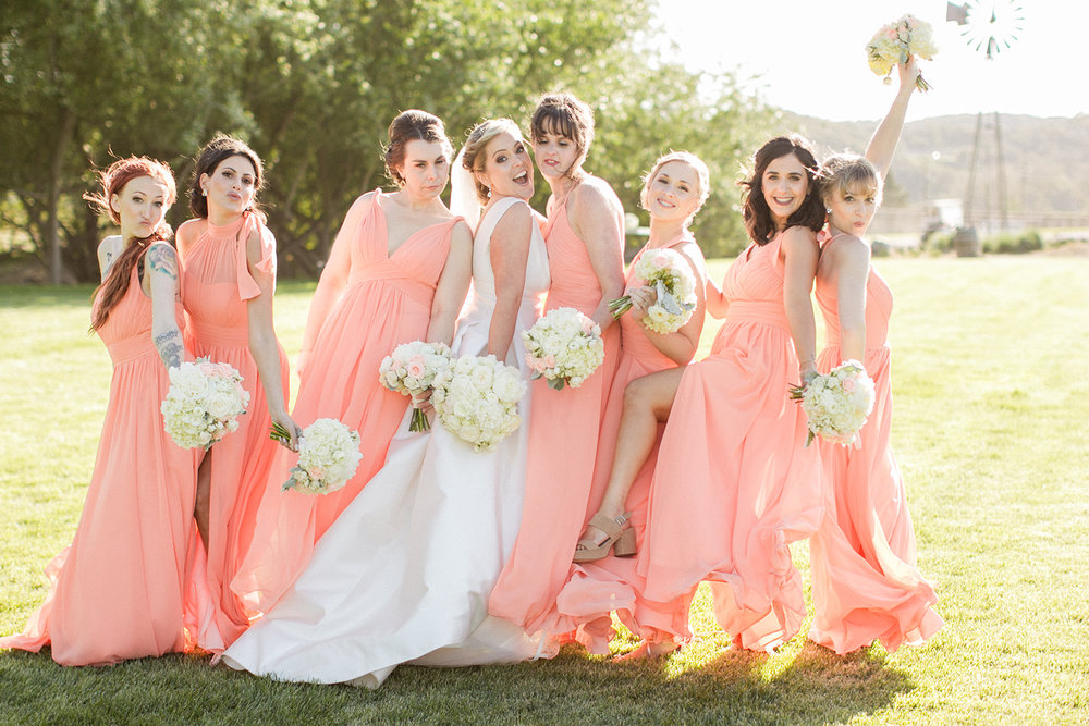 www.santabarbarawedding.com | Mike Larson | Islay Events | Greengate Ranch | Bridesmaids