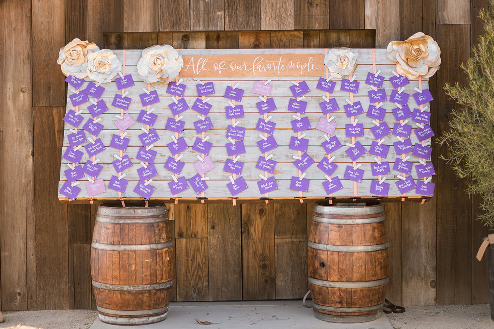 www.santabarbarawedding.com | Mike Larson | Islay Events | Greengate Ranch | Escort Cards