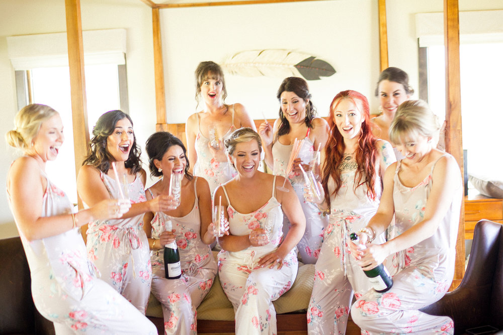 www.santabarbarawedding.com | Mike Larson | Islay Events | Greengate Ranch | Bridesmaids getting ready