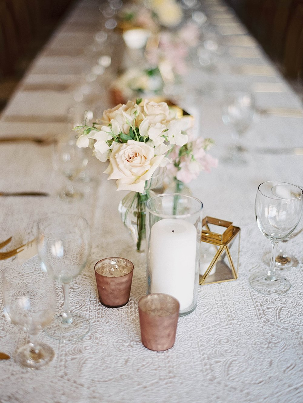 www.santabarbarawedding.com | Sunstone Winery | Luna de Mare | Esoteric Events | Reception Table