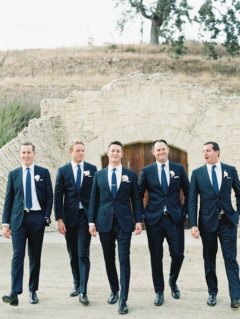 www.santabarbarawedding.com | Sunstone Winery | Luna de Mare | Esoteric Events | Groomsmen