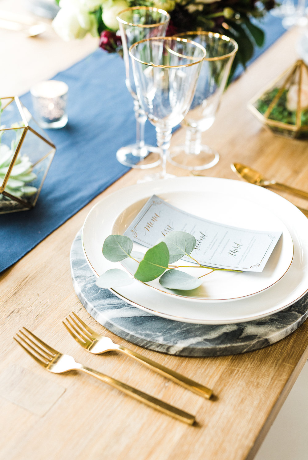 www.santabarbarawedding.com | Los Robles Greens | Besame Floral Events | Rachel Birkhofer | Styled Shoot | Place Setting