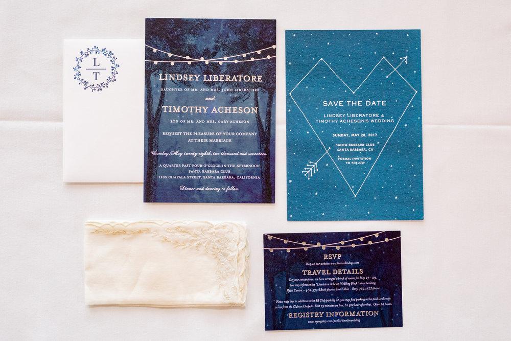 www.santabarbarawedding.com | Rewind Photography | Alegria by Design | Santa Barbara Club | Wedding Invitations