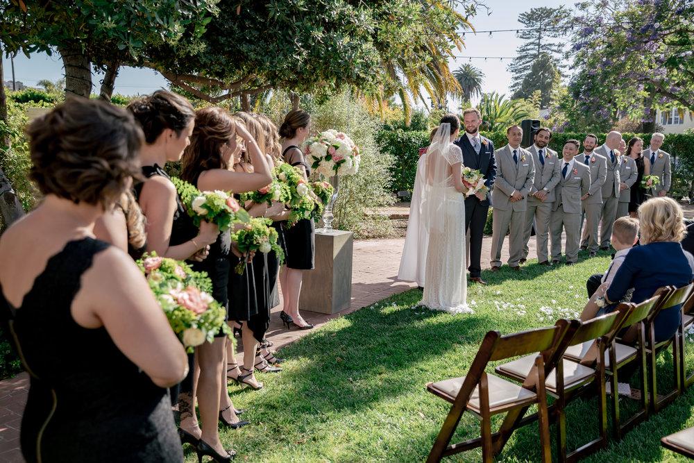 www.santabarbarawedding.com | Rewind Photography | Alegria by Design | Santa Barbara Club | ceremony