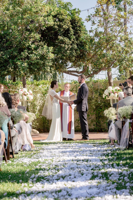 www.santabarbarawedding.com | Rewind Photography | Alegria by Design | Santa Barbara Club | Ceremony | Vows