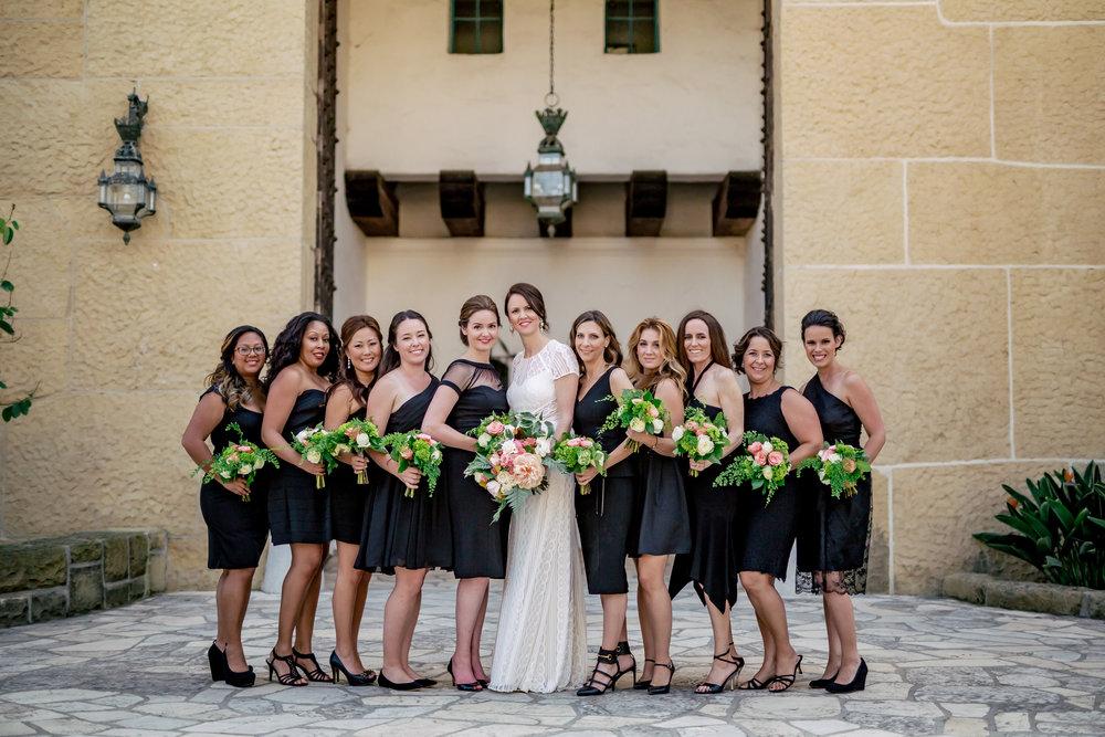 www.santabarbarawedding.com | Rewind Photography | Alegria by Design | Santa Barbara Club | Bridesmaids