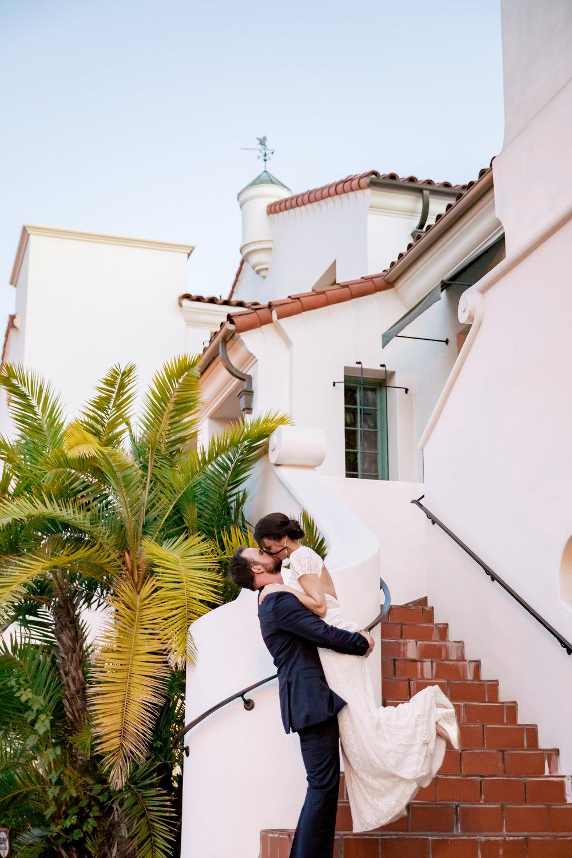 www.santabarbarawedding.com | Rewind Photography | Alegria by Design | Santa Barbara Club | Bride and Groom