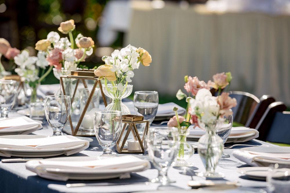 www.santabarbarawedding.com | Rewind Photography | Alegria by Design | Santa Barbara Club | Reception Table Details