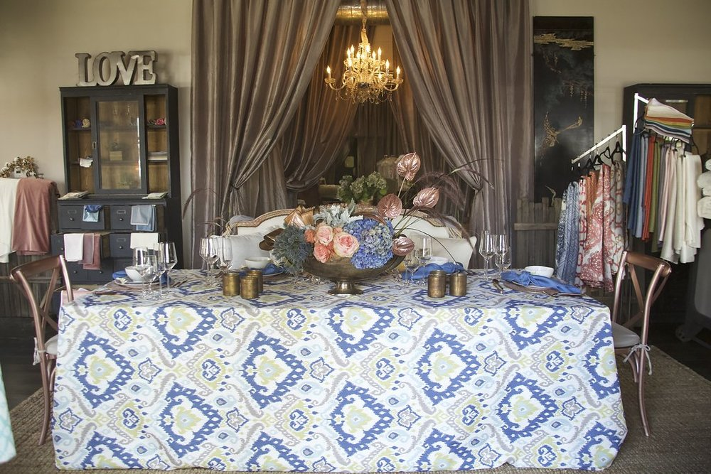 Santa Barbara Wedding Style | Luxe Linen Showcase | Pattern Trends | Wedding Tabletops