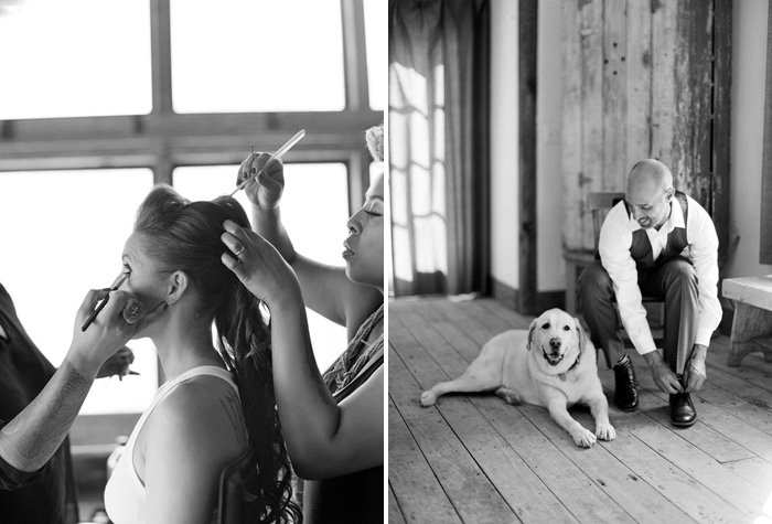 www.santabarbarawedding.com | Soigne Productions | Figueroa Mountain Farmhouse | Lacie Hansen | Bride and Groom Getting Ready