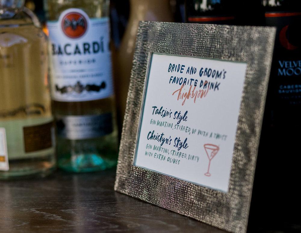 www.santabarbarawedding.com | Unitarian Society | Percy Sales | Steven Leyva | Bride and Groom's Favorite Drinks