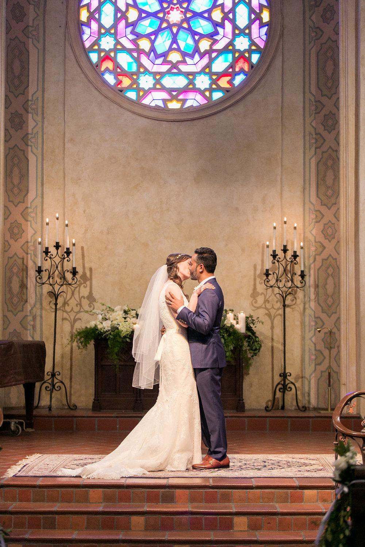 www.santabarbarawedding.com | Unitarian Society | Percy Sales | Steven Leyva | First Kiss | Ceremony