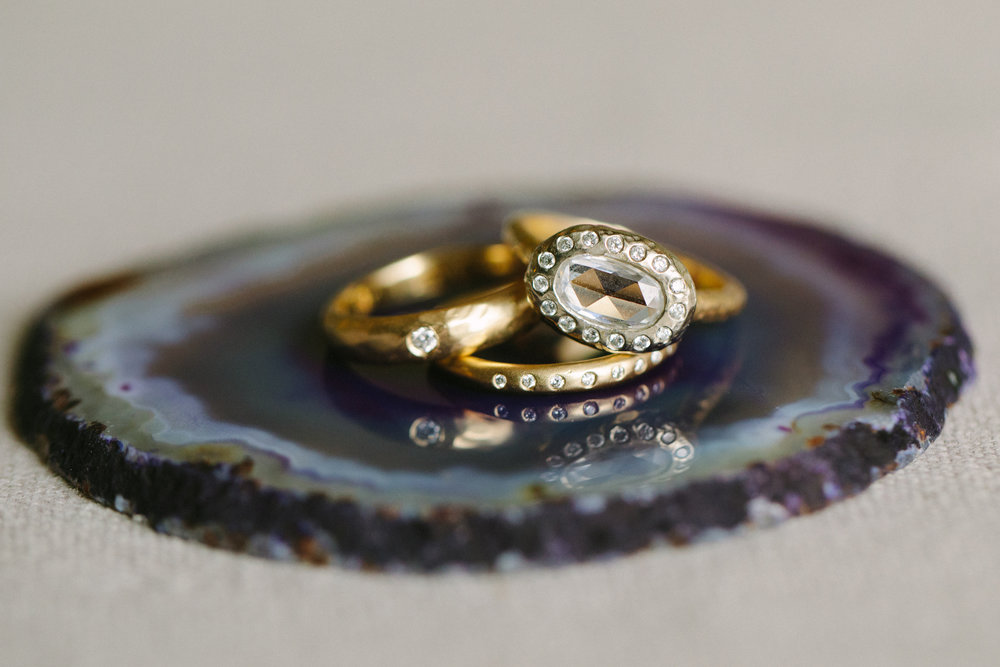 www.santabarbarawedding.com | San Ysidro Ranch | Imagine Events | Millay and Young Photo | Wedding Rings