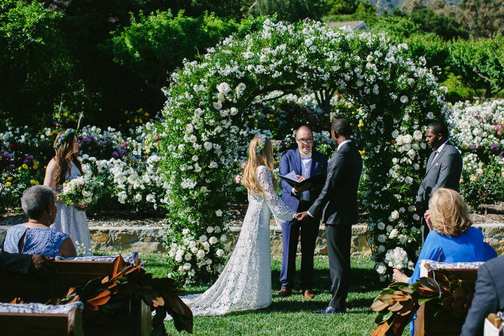 www.santabarbarawedding.com | San Ysidro Ranch | Imagine Events | Millay and Young Photo | Wedding Vows | Ceremony