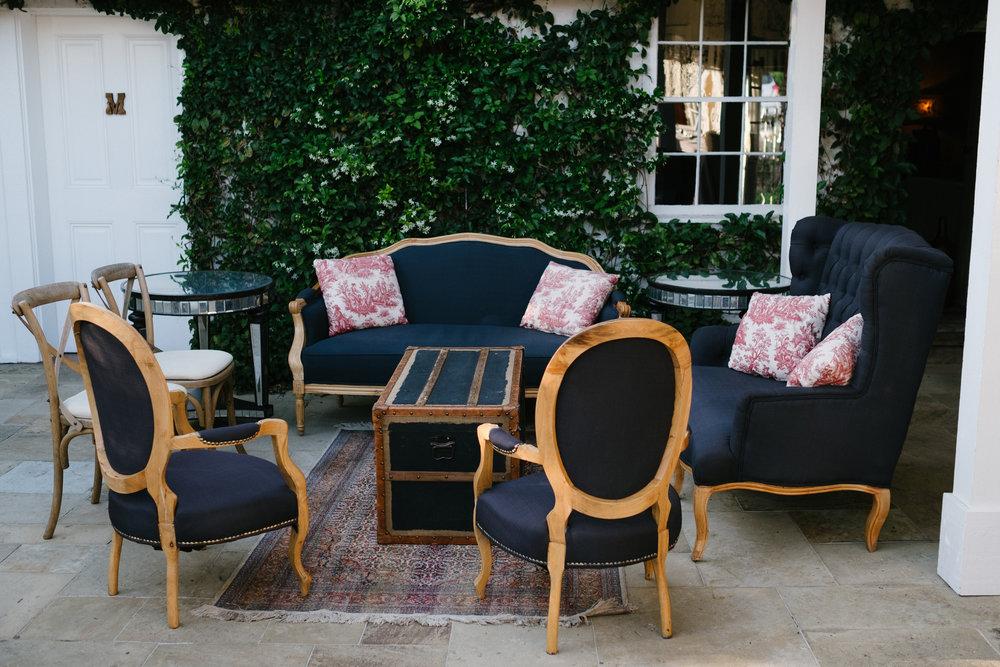 www.santabarbarawedding.com | San Ysidro Ranch | Imagine Events | Millay and Young Photo | Reception Seating