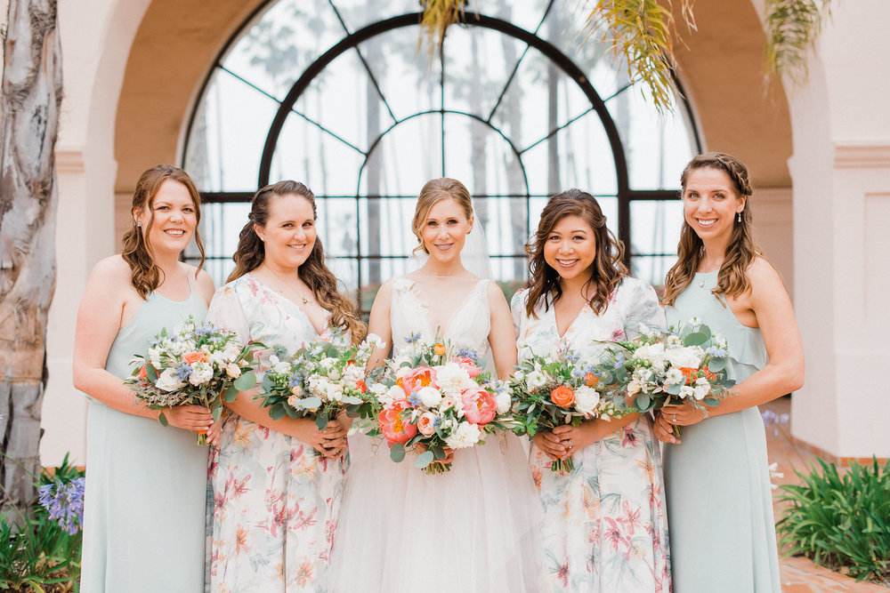 www.santabarbarawedding.com | Hilton Santa Barbara | Grace Kathryn | Events by M and M | Bridesmaids