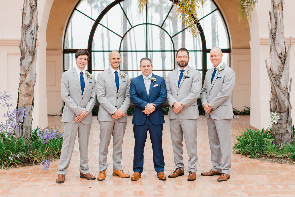 www.santabarbarawedding.com | Hilton Santa Barbara | Grace Kathryn | Events by M and M | Groomsmen