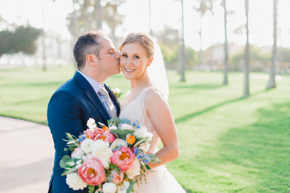 www.santabarbarawedding.com | Hilton Santa Barbara | Grace Kathryn | Events by M and M | Bride and Groom