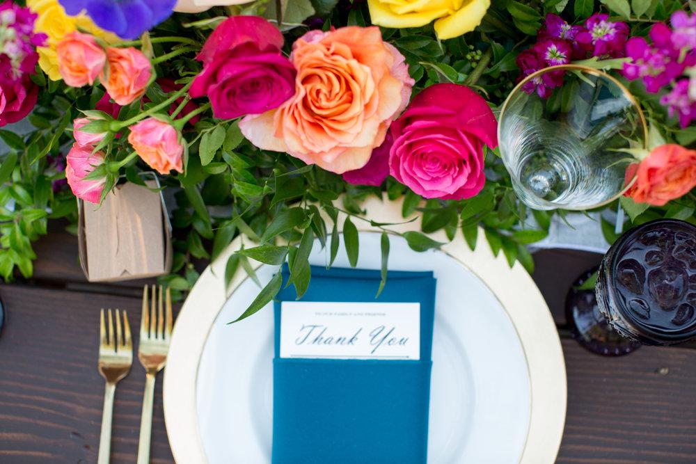 www.santabarbarawedding.com | Elings Park | Waller Weddings | Place Setting