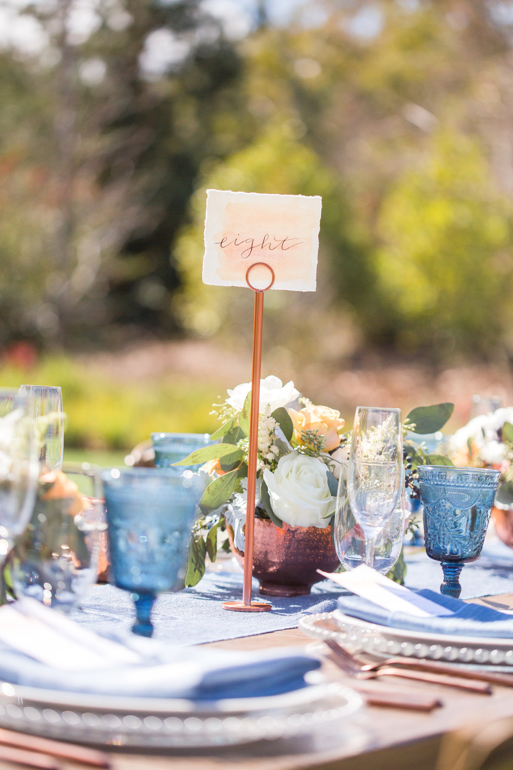 www.santabarbarawedding.com | Los Robles Greens | Events by Fran | Chelsea Elizabeth | Reception Table