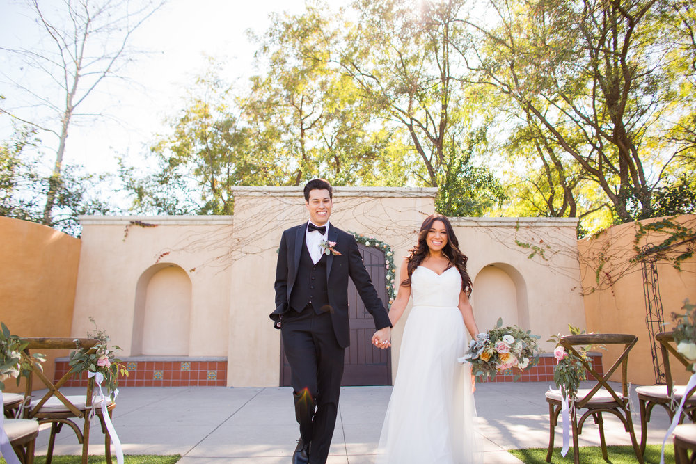 www.santabarbarawedding.com | Los Robles Greens | Events by Fran | Chelsea Elizabeth | Ceremony | Bride and Groom
