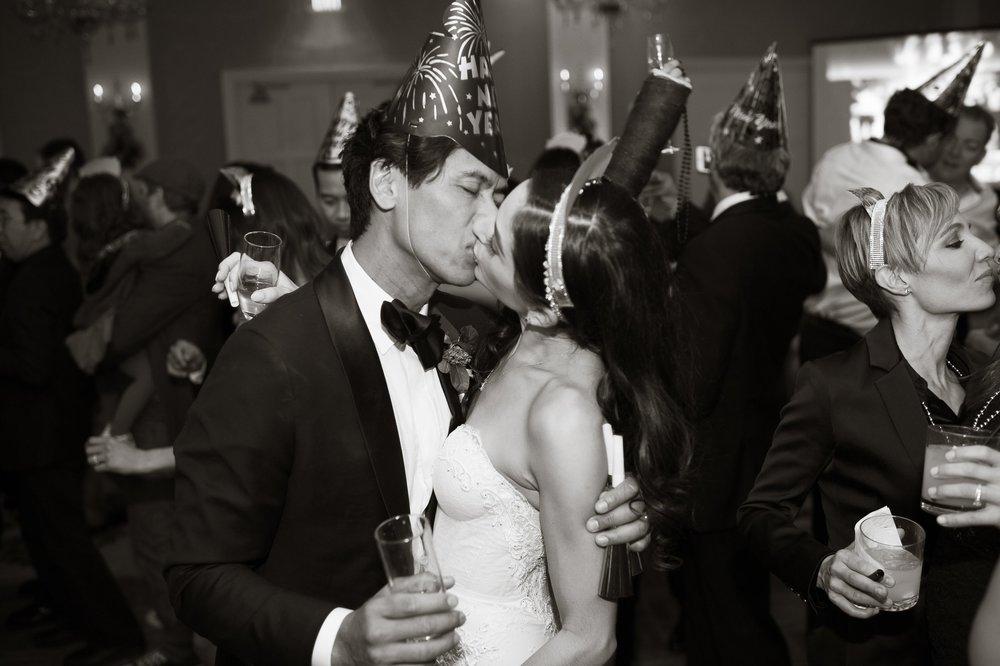 www.santabarbarawedding.com | Nate and Jenny Weddings | Felici Events | Belmond El Encanto | New Year's Kiss
