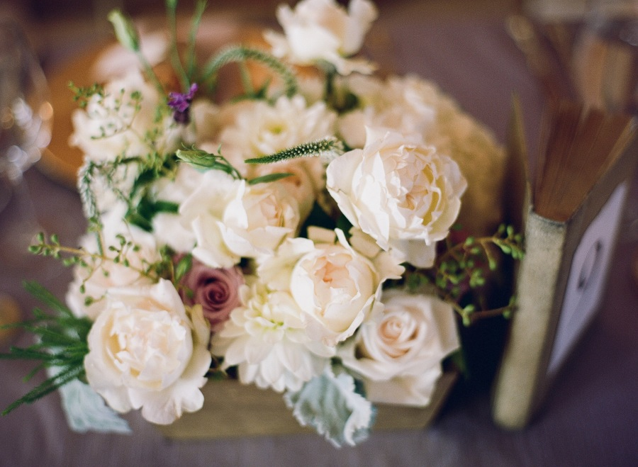 www.santabarbarawedding.com | Soigne Productions | Michael and Anna Costa | Zaca Creek Ranch | Floral Arrangement