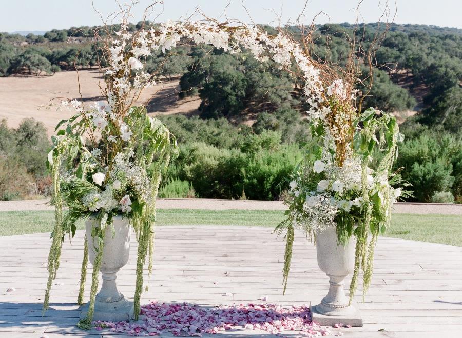 www.santabarbarawedding.com | Soigne Productions | Michael and Anna Costa | Zaca Creek Ranch | Wedding Arch