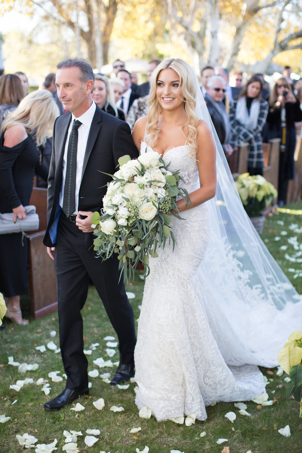 www.santabarbarawedding.com | Whispering Rose Ranch | Ann Johnson Events | Anna J Photo | Bride and Father