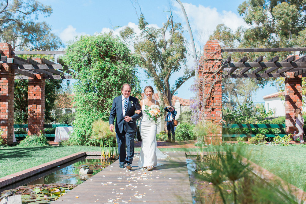 www.santabarbarawedding.com | James and Jess | Nina Moore Designs | Belmond El Encanto | Bride and Father