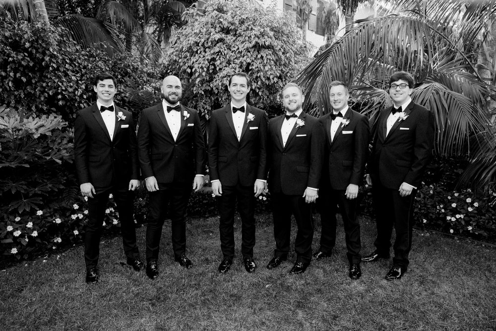 www.santabarbarawedding.com | KB Events | Michael and Anna Costa | Four Seasons The Biltmore | Groomsmen