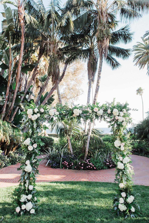 www.santabarbarawedding.com | KB Events | Michael and Anna Costa | Four Seasons The Biltmore | Wedding Arch