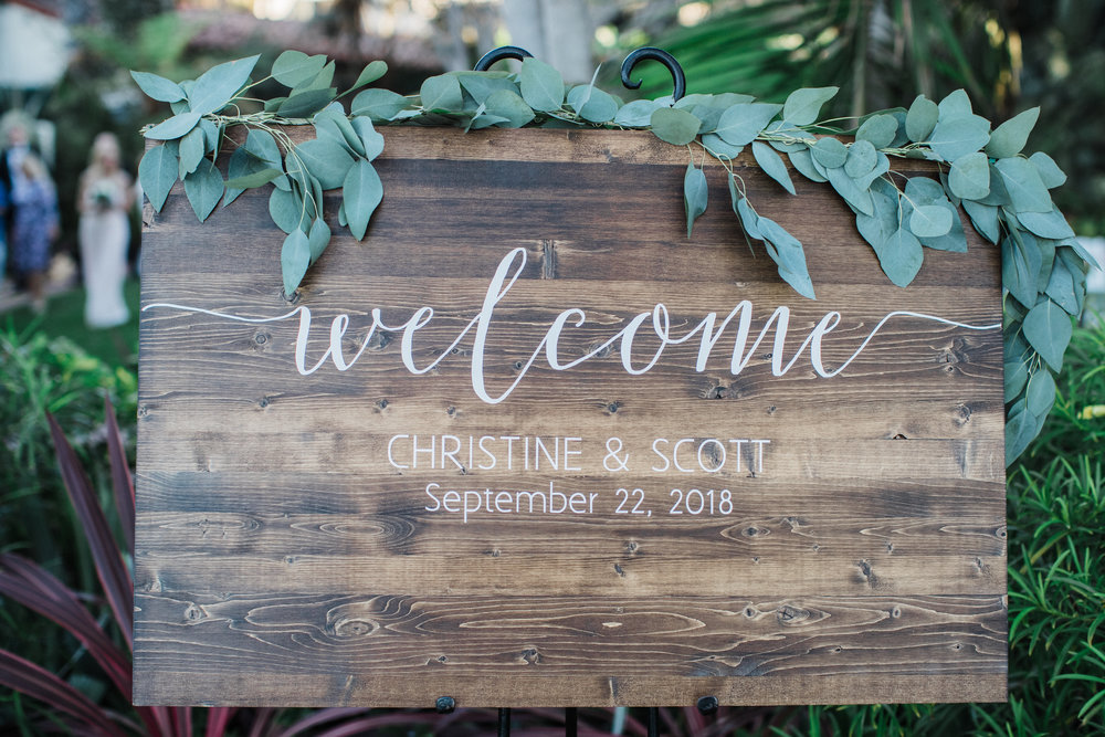www.santabarbarawedding.com | KB Events | Michael and Anna Costa | Four Seasons The Biltmore | Welcome Sign