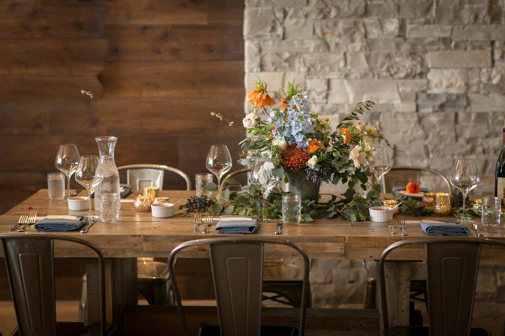 www.santabarbarawedding.com | Presqu'ile Winery | Allyson Magda | Reception Table